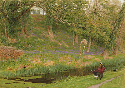 Pleasant Painting - Pleasant Land by Albert Goodwin