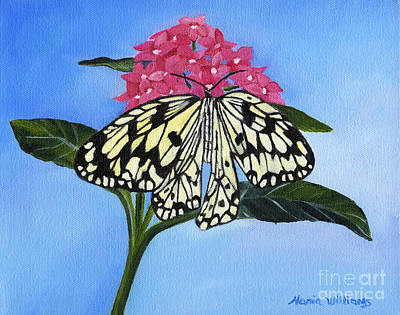 Butterfly Painting - Pleasant Sighting by Maria Williams