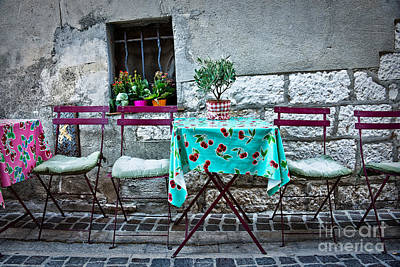 Please Have A Seat Print by Delphimages Photo Creations