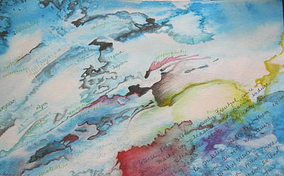 Watercolor With Pen Painting - Pleasure And Pain by Carrie Maurer