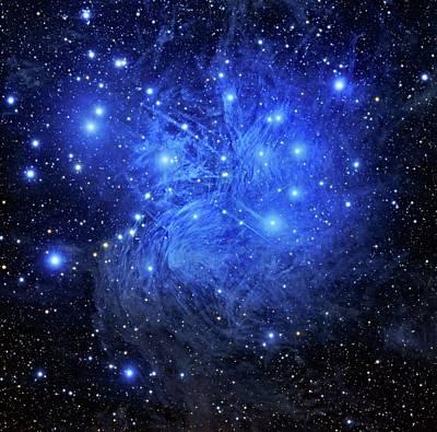 Pleiades Star Cluster Print by Tony & Daphne Hallas