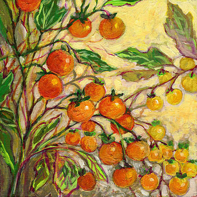 Tomato Painting - Plein Air Garden Series No 15 by Jennifer Lommers