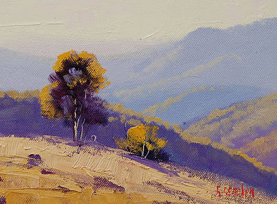 Gum Tree Painting - Plein Air  Study by Graham Gercken