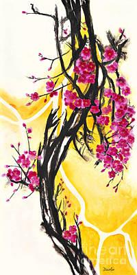 Plum Blossoms Print by Antony Galbraith