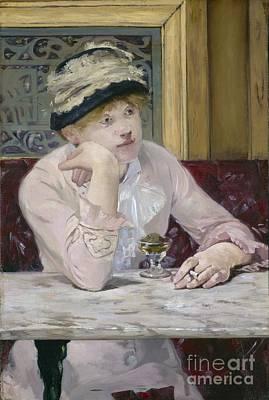 Smoking Room Decor Painting - Plum Brandy by Edouard Manet