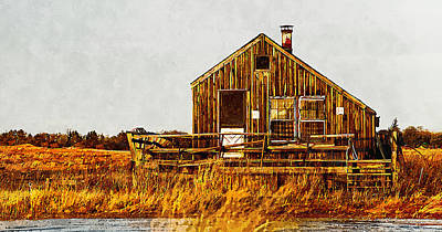 Plum Island Shack Print by Rick Mosher