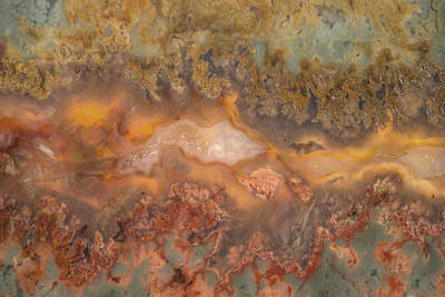 Nature Abstract Mixed Media - Plume Agate by Leland D Howard