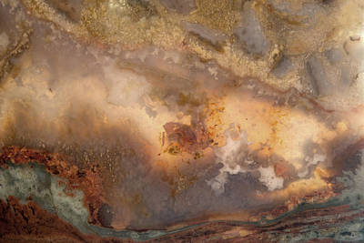 Nature Abstract Mixed Media - Plume Waves In Stone by Leland D Howard