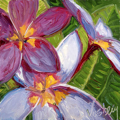 Haleiwa Painting - Plumeria 2 by Stacy Vosberg