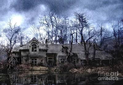 Haunted House Digital Art - Plunkett Mansion by Tom Straub