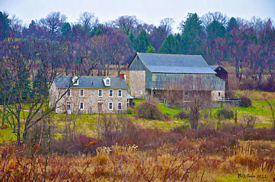 Pennsylvania Barns Digital Art - Plymouth Farm by Bill Cannon