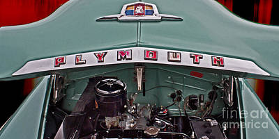 Cars Photograph - Plymouth Hood by Tom Gari Gallery-Three-Photography
