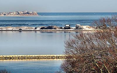 Plymouth Ma Harbor And Bay Print by Janice Drew
