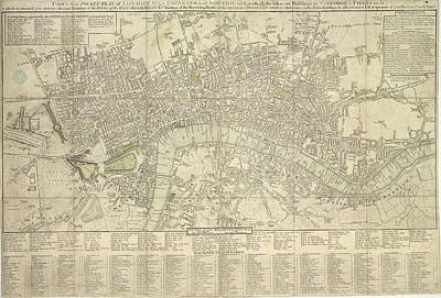 Pocket Plan Of London Print by British Library