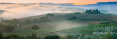 Podere Belvedere - Tuscany - Italy Print by Henk Meijer Photography