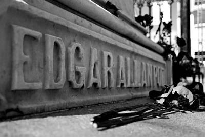 Creepy Photograph - Poe's Grave by Jennifer Ancker