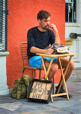 Poet For Hire - Paint Original by Steve Harrington