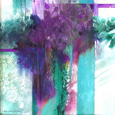 Curvilinear Painting - Poetry Is Painting by Patricia Mayhew Hamm
