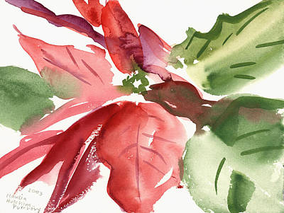 Water And Plants Painting - Poinsettia by Claudia Hutchins-Puechavy