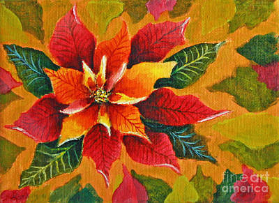 Red Painting - Poinsettia Rose2 by Kathryn Duncan
