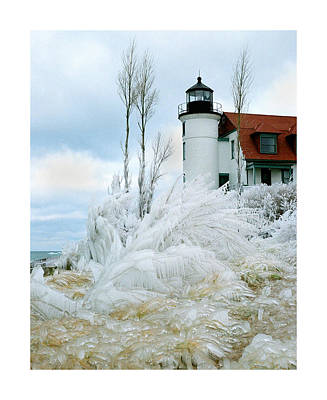 Point Betsie Lighthouse In Michigan Print by Julie Ketchman