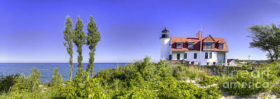 Northport Photograph - Point Betsie Panorama by Twenty Two North Photography