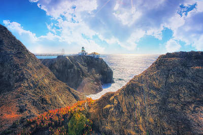 Point Bonita Lighthouse - Marin Headlands 2 Print by The  Vault - Jennifer Rondinelli Reilly