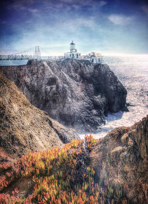 Point Bonita Lighthouse - Marin Headlands 5 Print by The  Vault - Jennifer Rondinelli Reilly