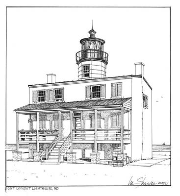 Point Lookout Lighthouse Original by Ira Shander