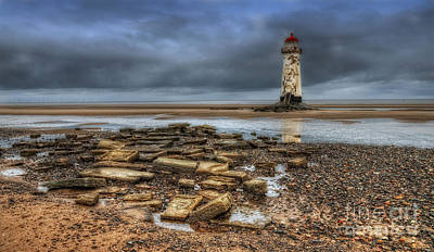 Point Of Ayr Lighthouse Print by Darren Wilkes