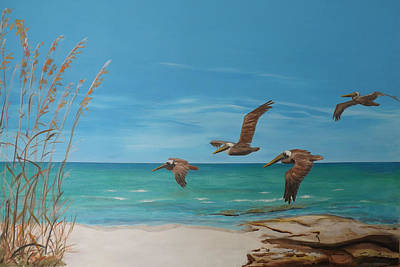 Sea Birds Painting - Point Pellican by Daniel Gale