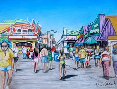 Point Pleasant Beach Boardwalk Print by Melinda Saminski