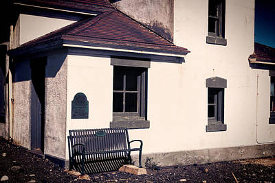 Window Bench Photograph - Point Wilson Lighthouse Bench by Joan Carroll