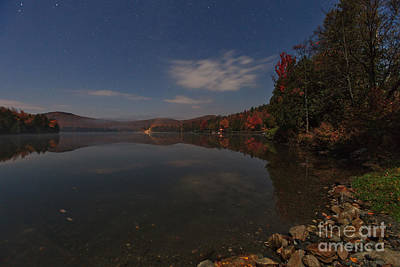 Autumn Foliage Photograph - Points Of Light On Martins Pond by Charles Kozierok