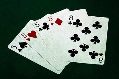 Poker Hands - Four Of A Kind 1 Print by Alexander Senin