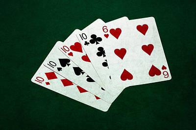 Poker Hands - Four Of A Kind 4 Print by Alexander Senin
