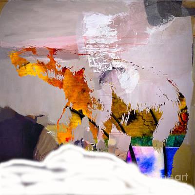 Bear Mixed Media - Polar Bear by Marvin Blaine