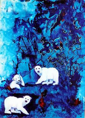 Polar Bear Retreat Print by JAXINE Cummins