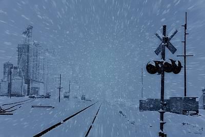 Snowstorm Mixed Media - Polar Express by Dan Sproul