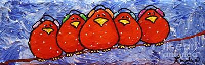 Limbbirds Painting - Polar Vortex by LimbBirds Whimsical Birds