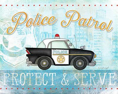 Police Print by Jennifer Pugh