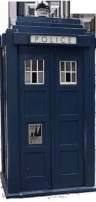 Police Phone Box Print by Philip Ralley