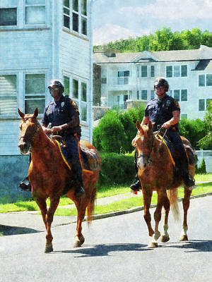 Horse Photograph - Police - Two Mounted Police by Susan Savad