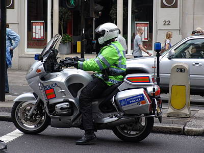 Photograph - Police Uk/london by Ashok Patel