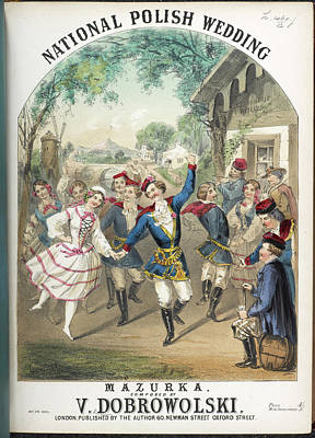 Polish Country Wedding With Musicians Print by British Library