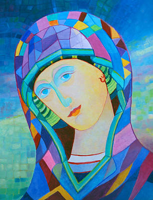 Our Lady Of Victory. Santa Madonna Holy Mary Icon Print by Magdalena Walulik
