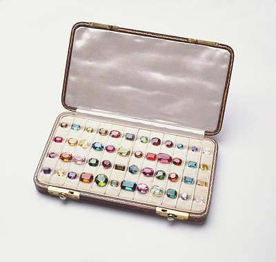 Polished Gemstones Print by Dorling Kindersley/uig