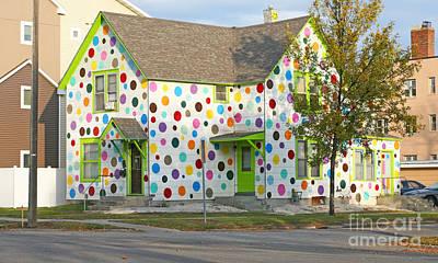 Polka Dot House Print by Steve Augustin