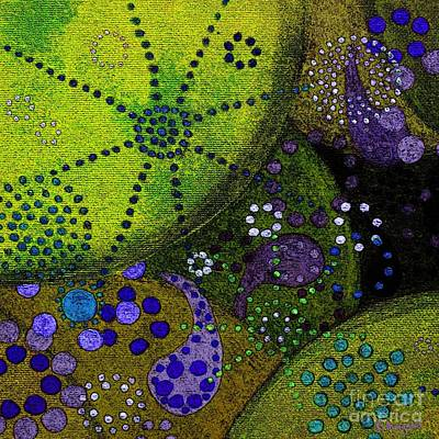 Microscopic Painting - Pollen Universe by Barbara Moignard