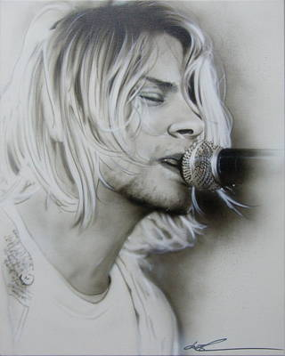 Cobain Painting - 'polly' by Christian Chapman Art